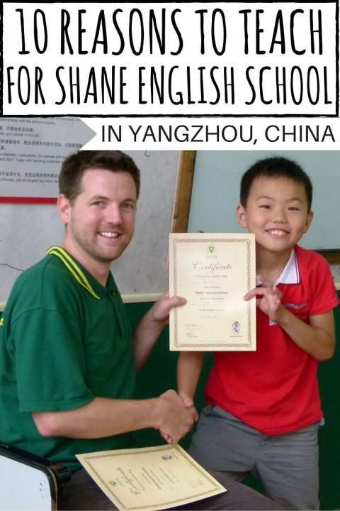 10 reasons to Teach for Shane English School