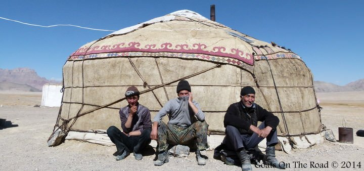 Backpacking Tajikistan - A Yurt
