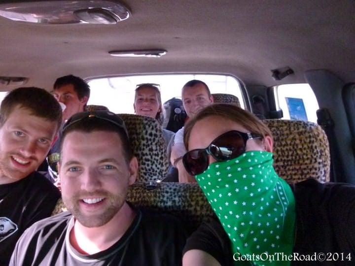 driving in the gobi desert