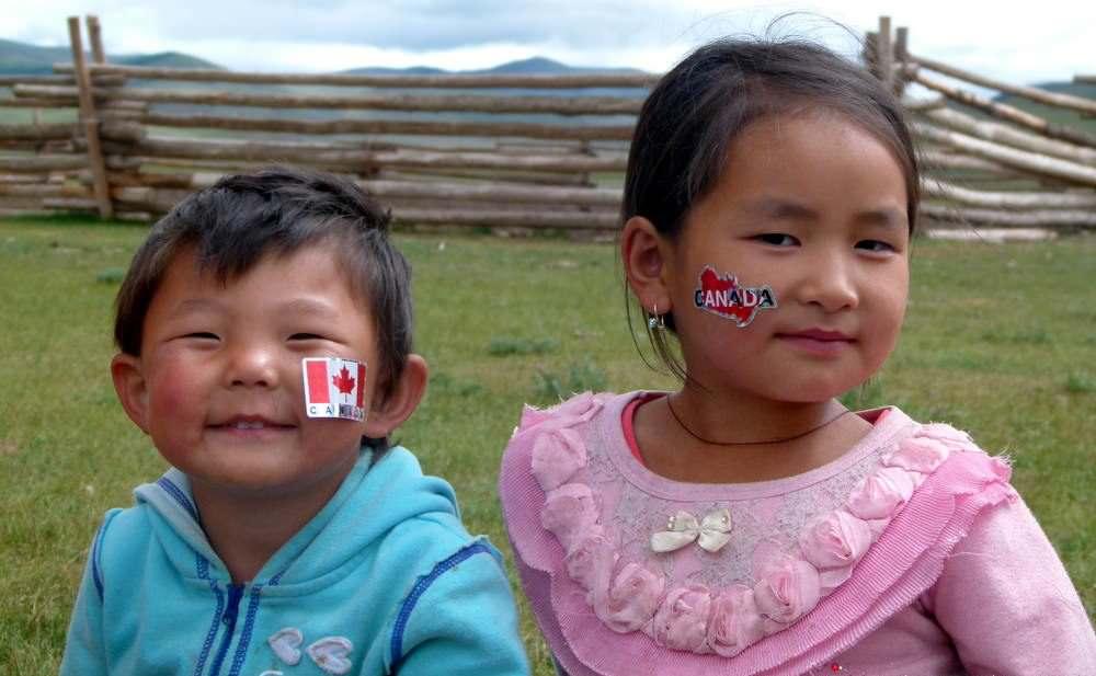 kids in mongolia