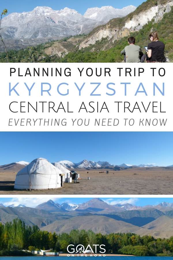 Central Asia landscapes with text overlay Planning Your Trip To Kyrgyzstan
