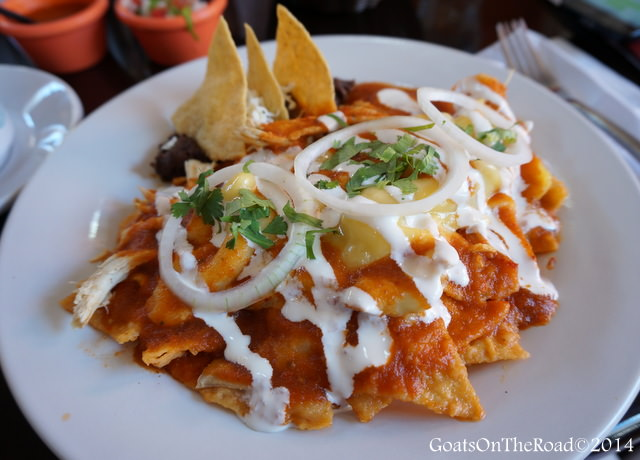 Chilaquiles meal