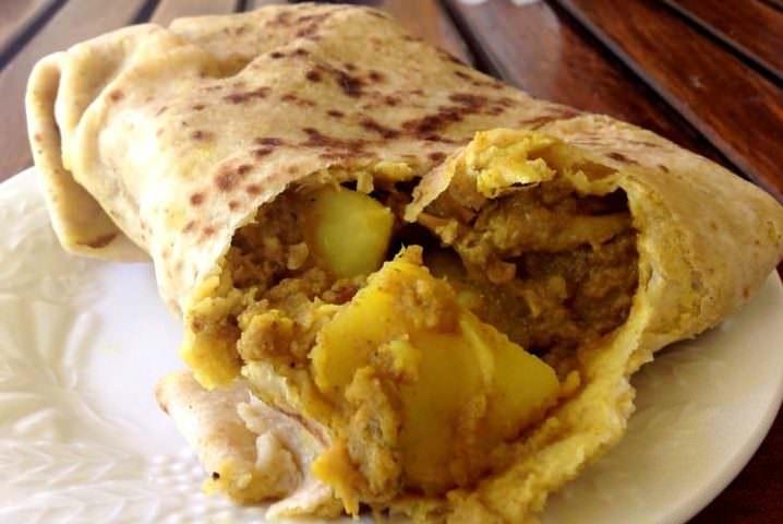 travel to grenada eating roti