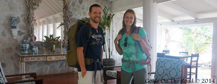 Checking In Backpacks On Sugar Reef