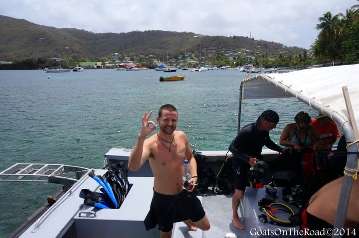 scuba diving bequia