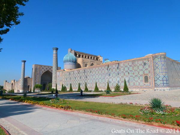 Side View Samarkand Registan