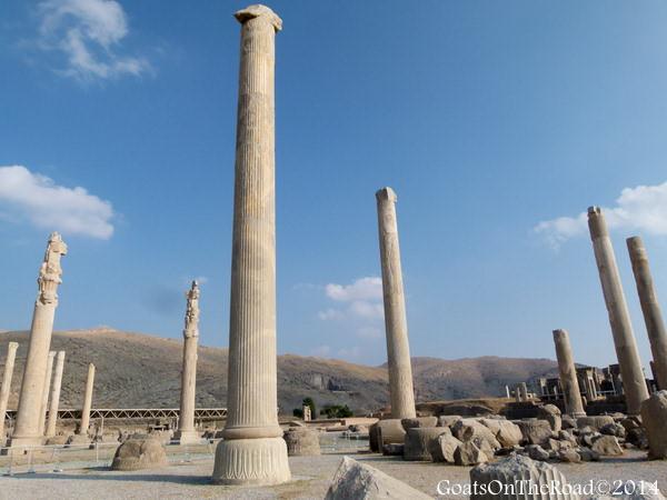 ruinis of persepolis iran