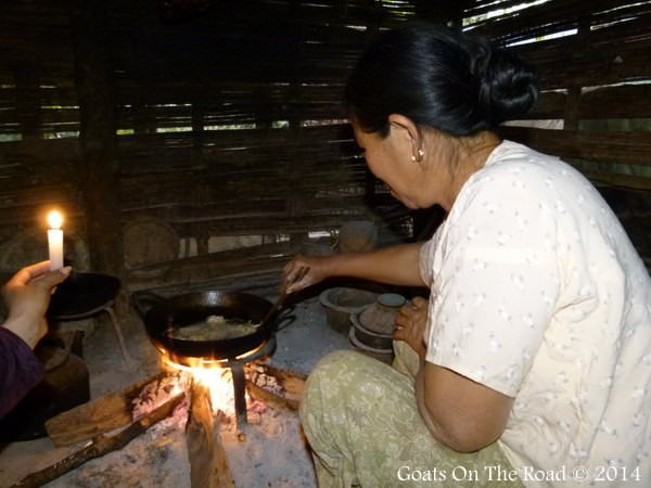 Mama Cooking A Meal In Naloy Village