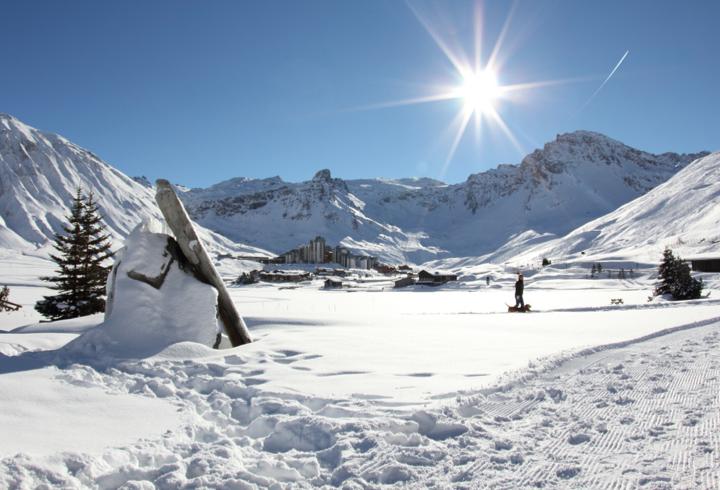Snowy Ski Mountain Holiday