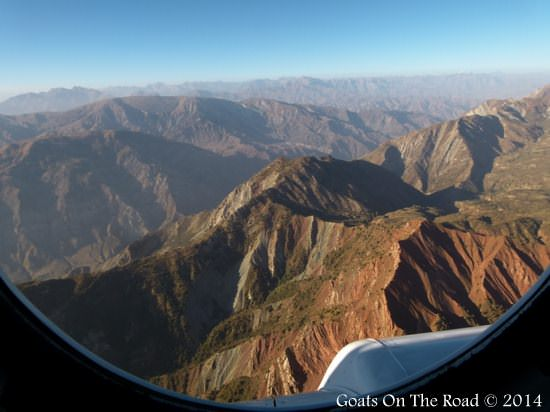 A View From The Helicopter over Pamir Mountains