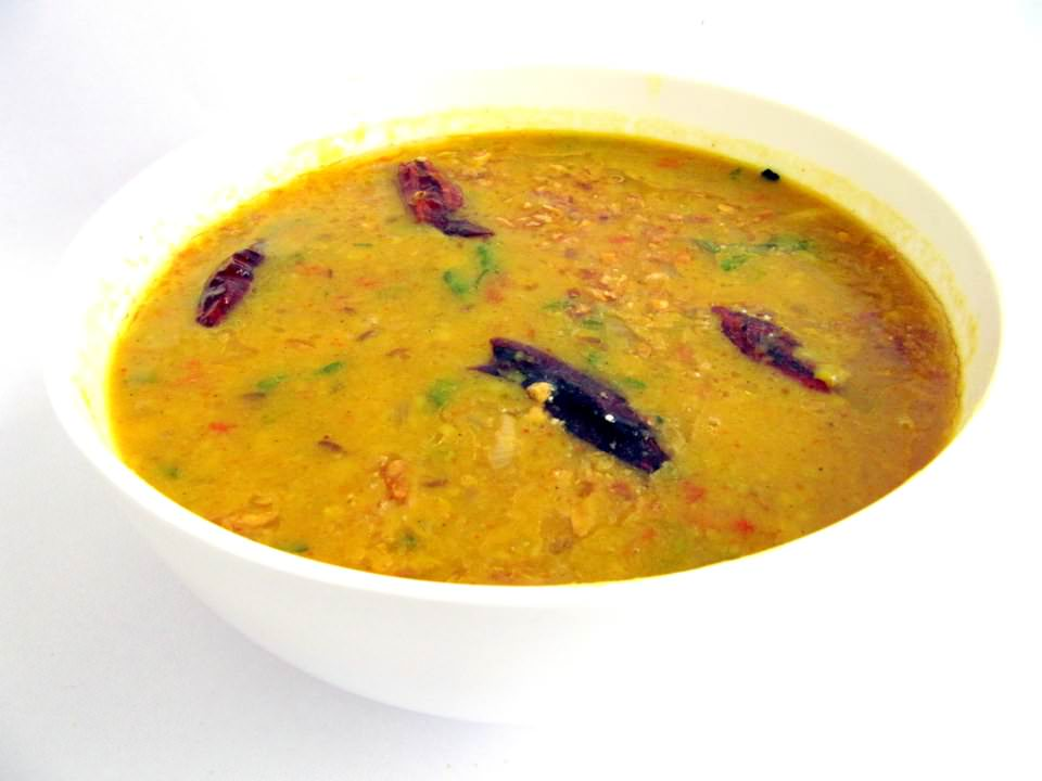 yellow dal meal in india, the best vegan food in india
