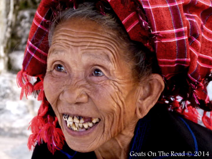 backpacking southeast asia smiling woman from Myanmar