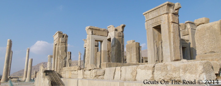 Ancient Persepolis backpacking Iran