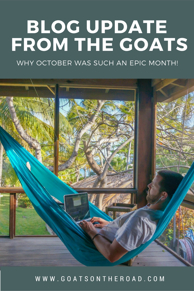 Blog Update From The Goats - Why October Was Such an Epic Month!