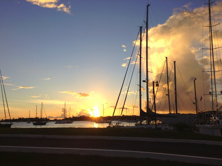 sunset in grenada