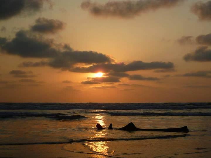 sunset in ecuador