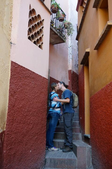 alley of kiss guanajuato mexico