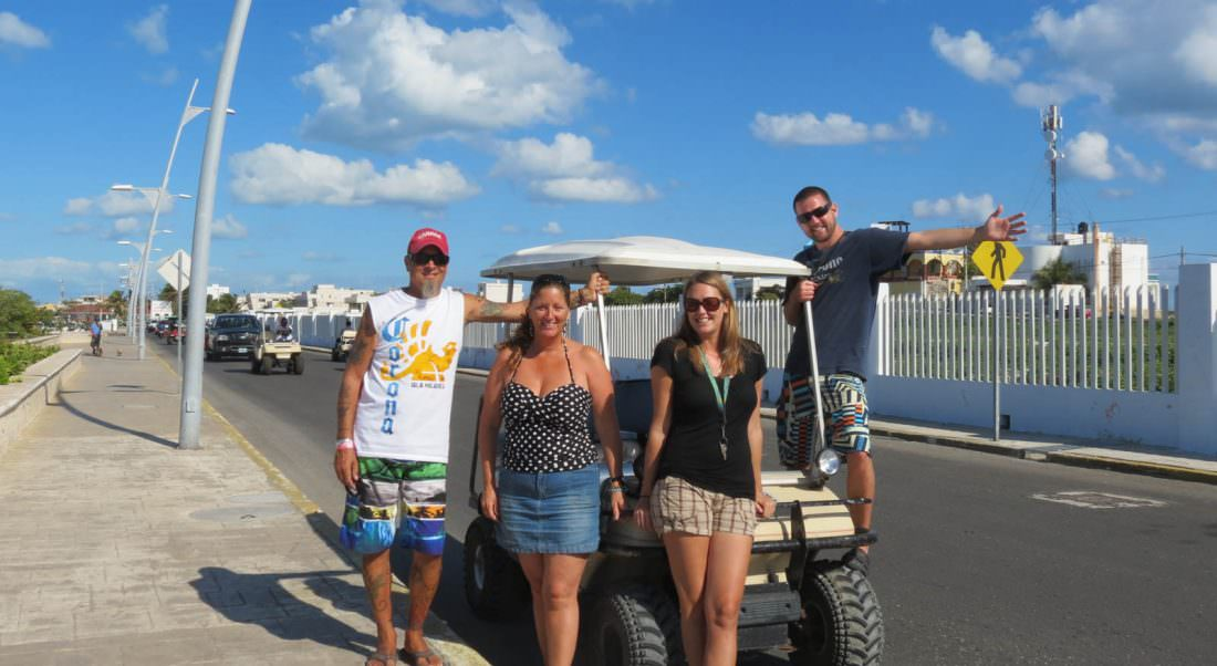 renting a golf cart is one of the best things to do in isla mujeres