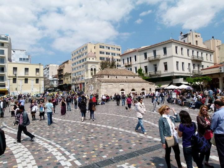 travel to athens monastraki square