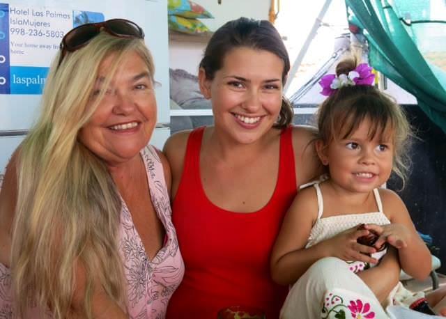 The Las Palmas Family (Left to Right: Kate, Safari, Dania)