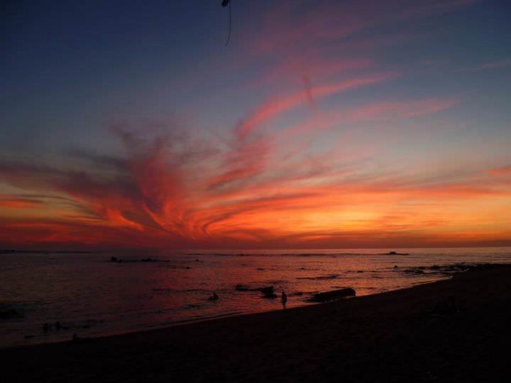 sunset in el salvador
