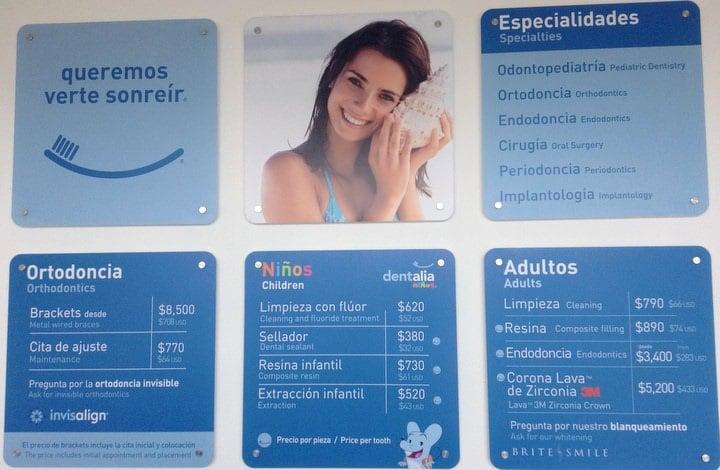 dentalia dentist prices