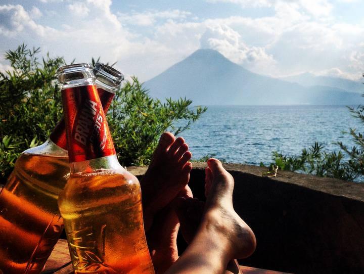 Cheers Beers Volcano Atitlan