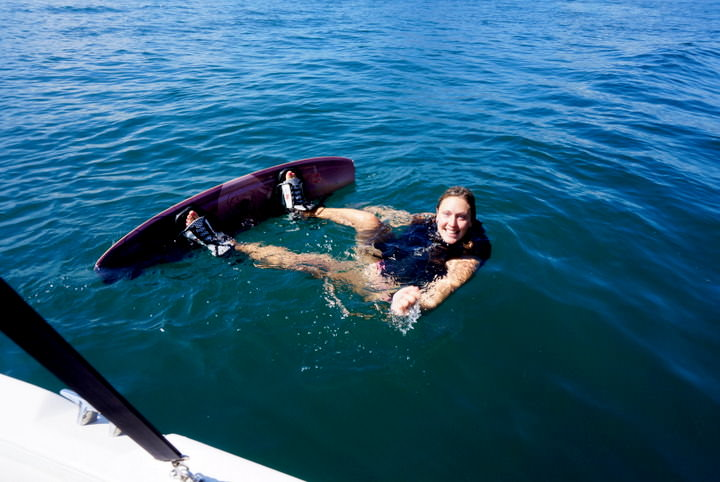 wake boarding on lake atitlan