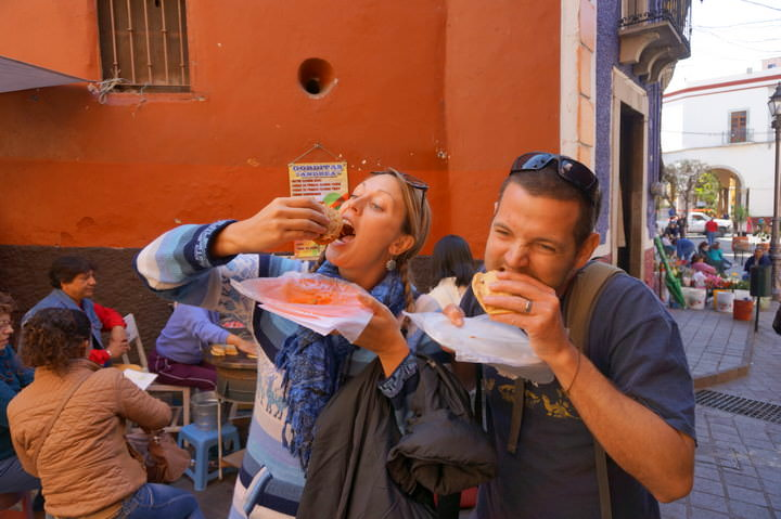 Eating Food Tour Guanajuato