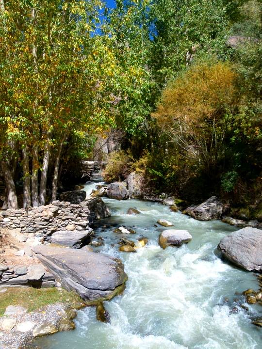 river in langar village