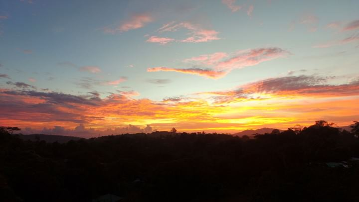 sunset in costa rica