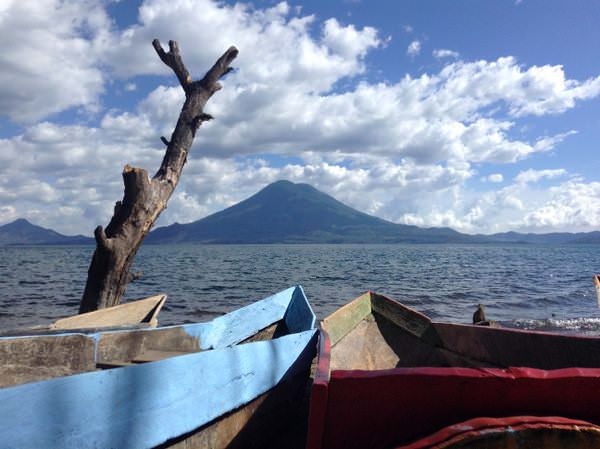san pedro volcano on lake atitlan