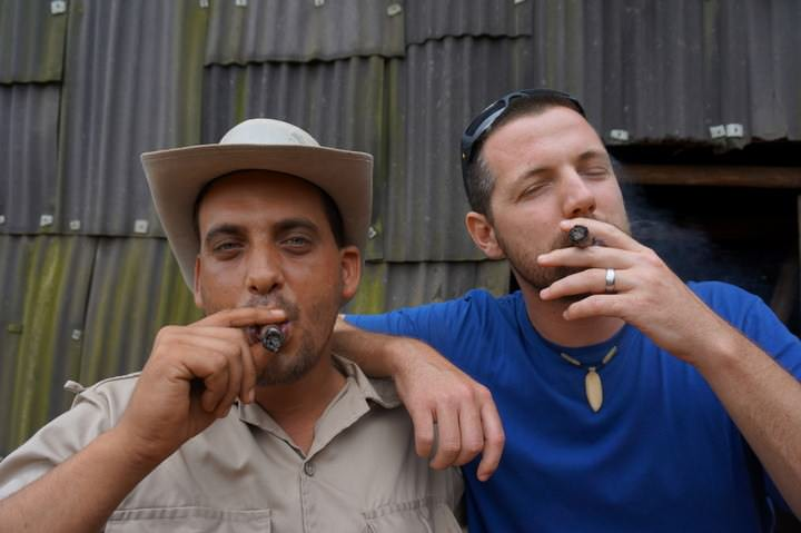 Smoking A Cigar With Yasel in Vinales