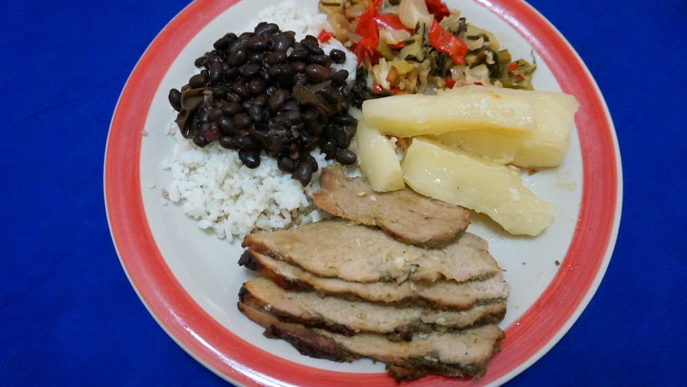 cuban food at a casa particular