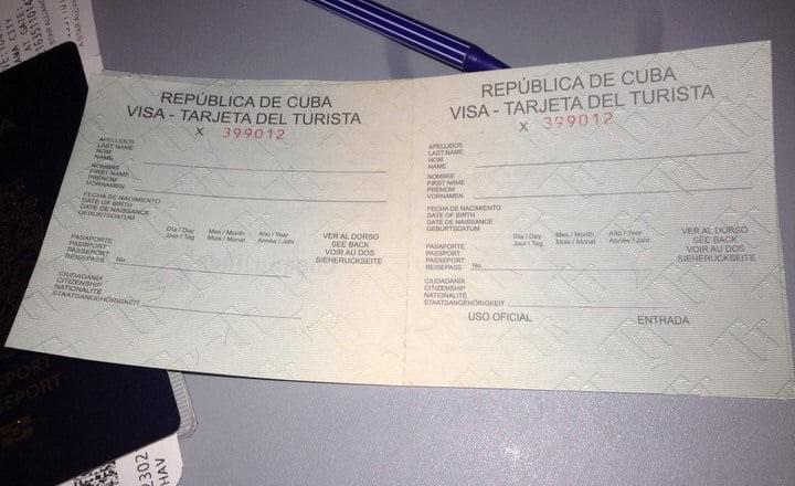 tourist card havana cuba