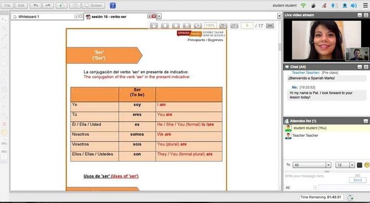 spanish marks online lessons