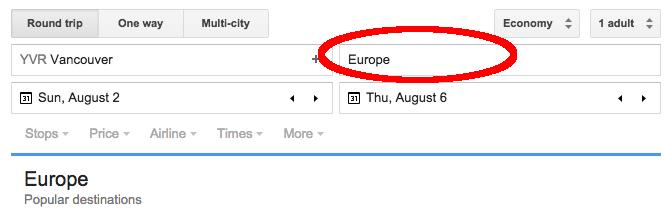 Google Flights Fly To Region