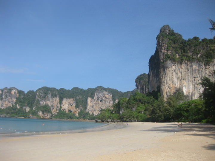 beach in railay thailand
