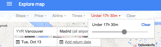 Maximum Flight Duration Google Flights