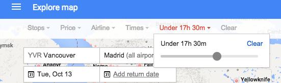Maximum Flight Duration Google Flights