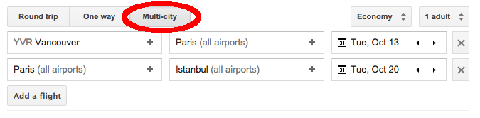 Multi-City Google Flights