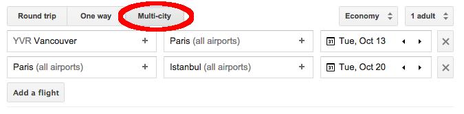 Multi-City Google Flights