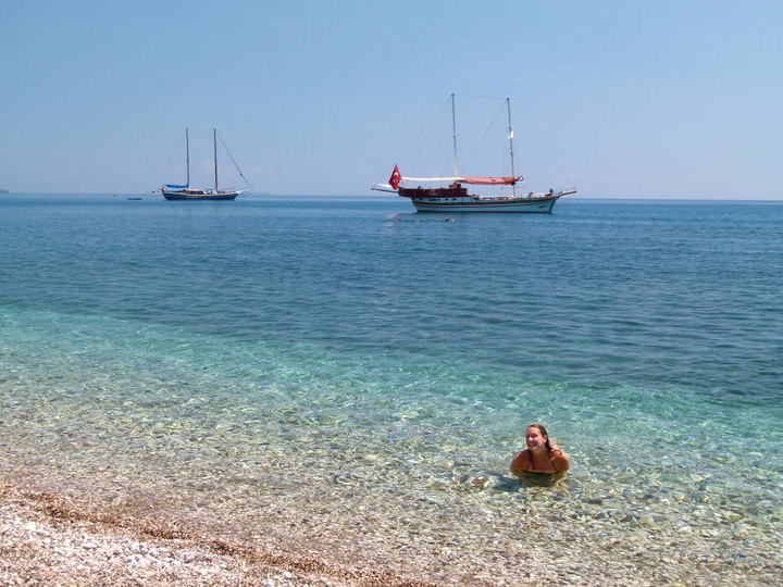 olympos bay turkey beach