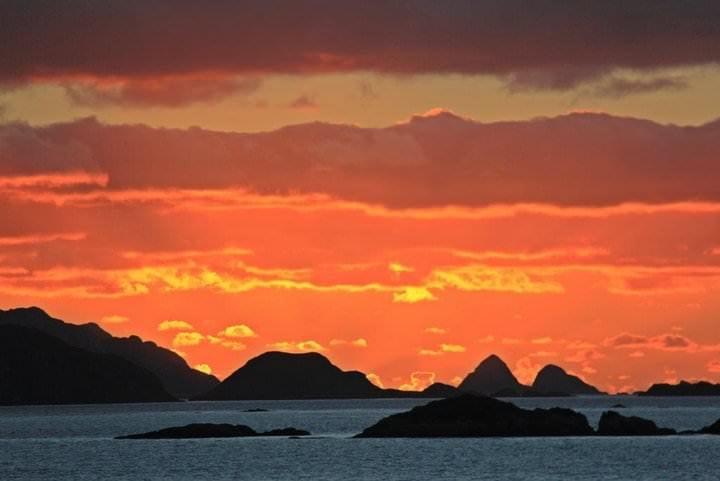 sunset southa merica