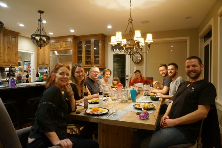 From left front around table: