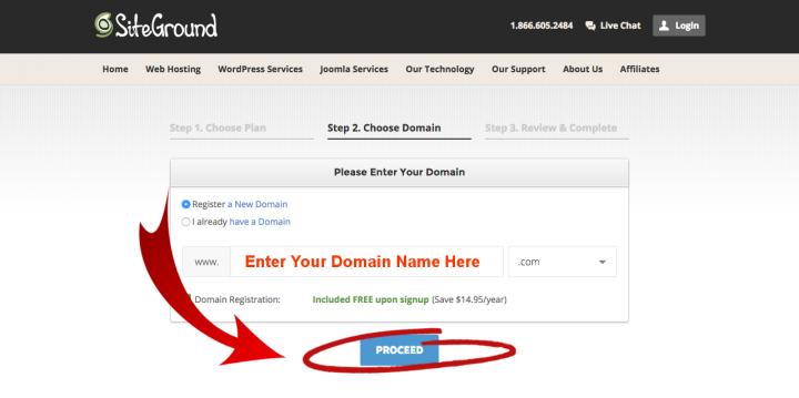 Build Travel Blog Enter Domain Name