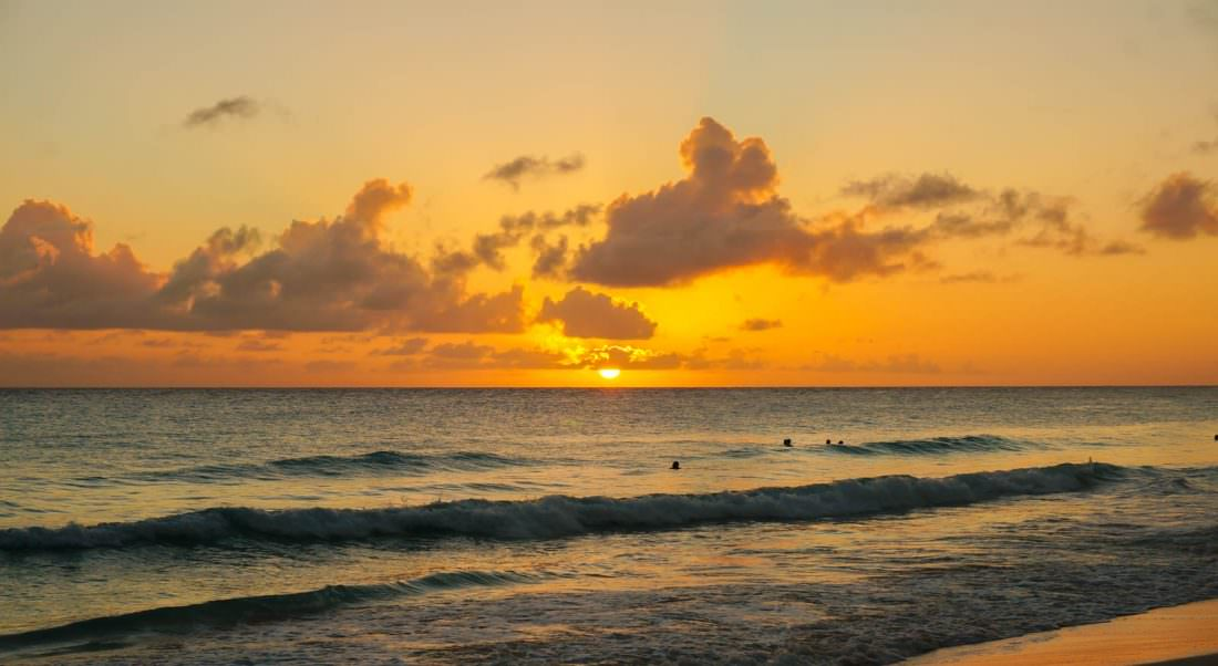 best places to visit in january barbados sunset