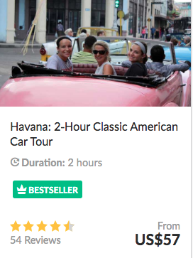 cost of cuba havana car tour