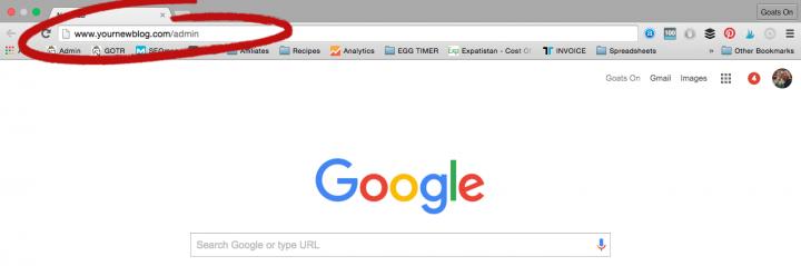 Start a Blog log in to wordpress