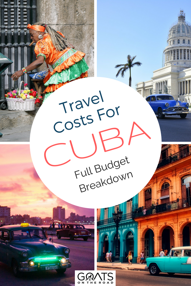 """ALTTHREE""Cuba photographs with text overlay Travel Costs For Cuba Full Budget Breakdown"